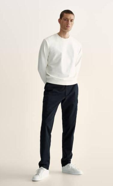 cargo παντελόνι άσπρη μπλούζα Massimo Dutti καλοκαίρι 2021