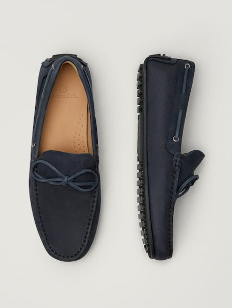 δερμάτινα μπλε παπούτσια