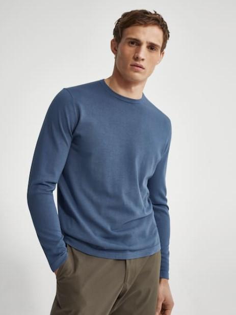 γαλάζια μακρυμάνικη μπλούζα