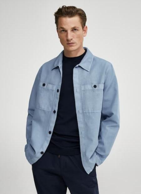 γαλάζιο overshirt