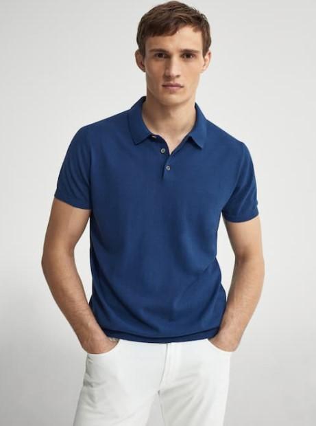 γαλάζιο πόλο μπλουζάκι