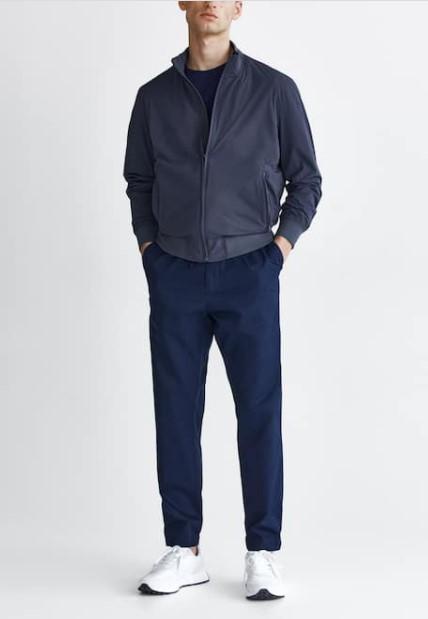 joggers παντελόνι μπλε Massimo Dutti καλοκαίρι 2021