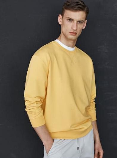 κίτρινη φούτερ Massimo Dutti καλοκαίρι 2021