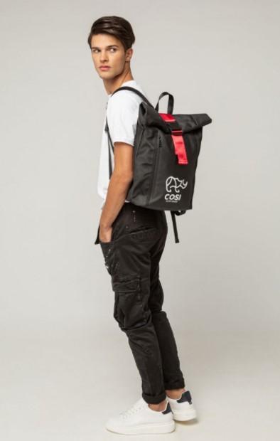 μαύρο σακίδιο πλάτης Cosi jeans άνοιξη- καλοκαίρι 2021