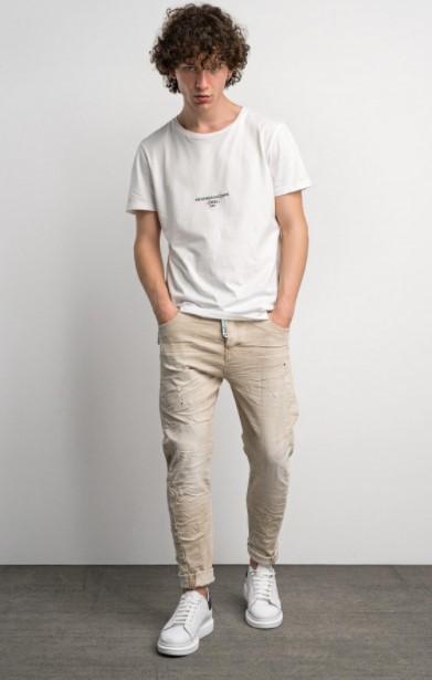 μπλε τζιν άσπρη μπλούζα Cosi jeans άνοιξη- καλοκαίρι 2021