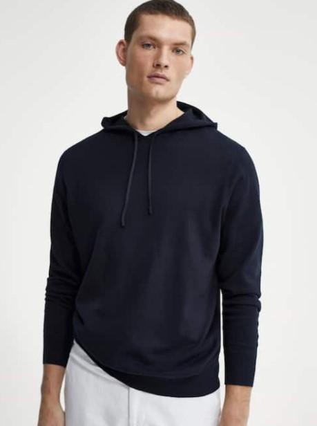 σκούρη φούτερ μπλούζα Massimo Dutti καλοκαίρι 2021