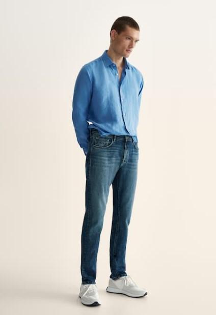 τζιν γαλάζιο πουκάμισο Massimo Dutti καλοκαίρι 2021