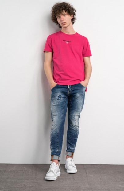 τζιν ξεβαμμένο φουξ μπλούζα