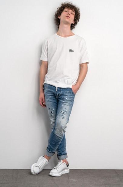 τζιν παντελόνι άσπρες πιτσιλιές