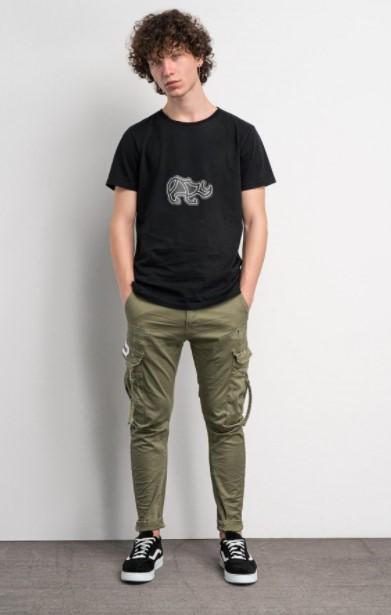 χακί παντελόνι μαύρο T-shirt Cosi jeans άνοιξη- καλοκαίρι 2021