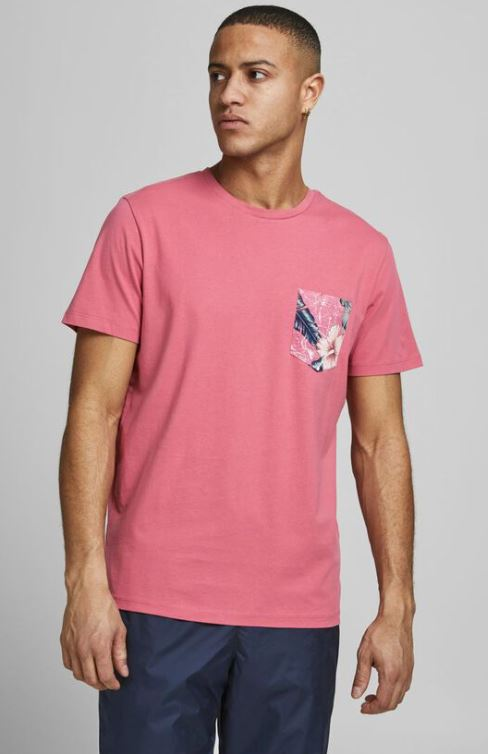 ανδρικη ροζ μπλουζα