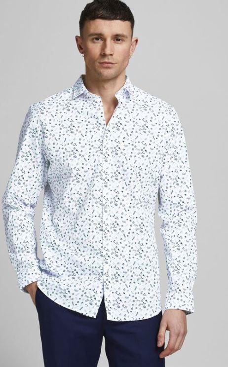 ασπρο πουκαμισο με σχεδια