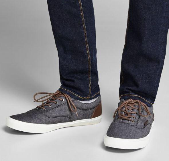 γκρι υφασματινα παπουτσια
