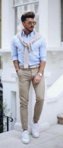 καφε παντελονι γαλζιο πουκαμισο