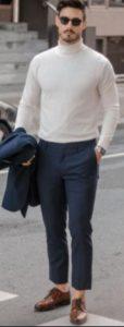 μπλε παντελονι με ζιβαγκο
