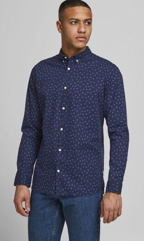 μπλε πουκαμισο με σχεδια