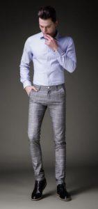 πουκαμισο με γκρι παντελονι