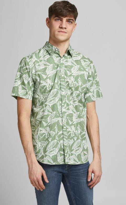 πρασινο πουκαμισο με φύλλα