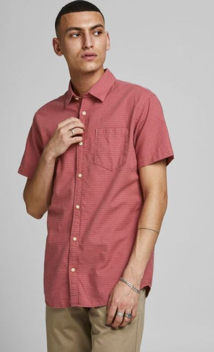 ροζ κοντομανικο πουκαμισο