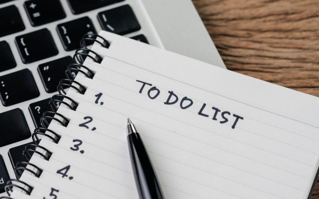 λίστα για να εξοικονομήσει χρόνο