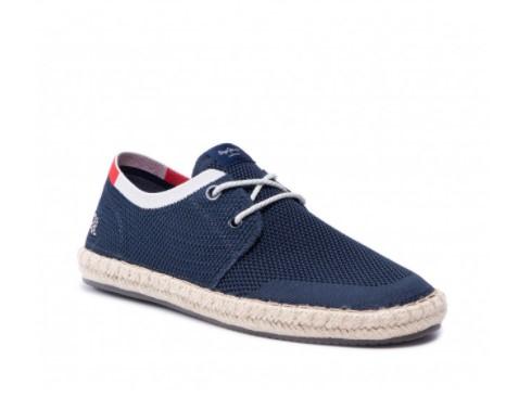 μπλε παπούτσι κορδόνι