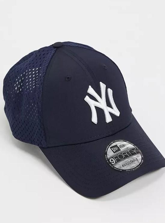 μπλε καπέλο με διχτάκι