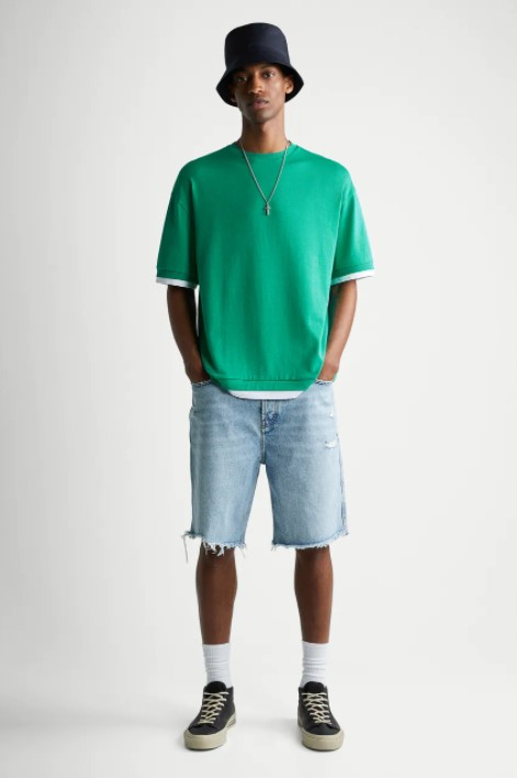 πράσινο ανδρικό μπλουζάκι ζαρα