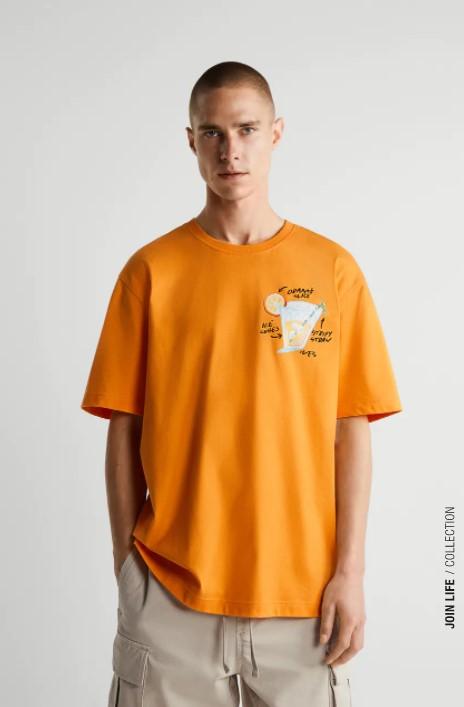 μπλουζακι πορτοκαλι ζαρα