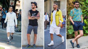 καλοκαιρινά ντυσίματα με βερμούδα και sneakers