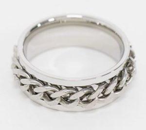 δαχτυλίδι με αλυσίδα