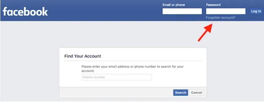σελίδα σύνδεσης facebook