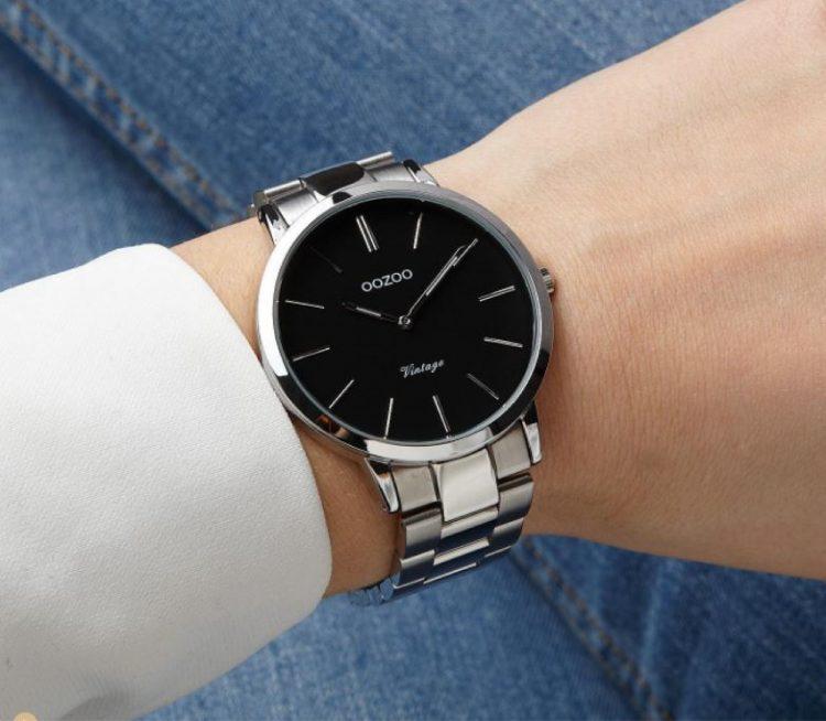 ανδρικά ρολόγια OOZOO-ασημί ρολόι